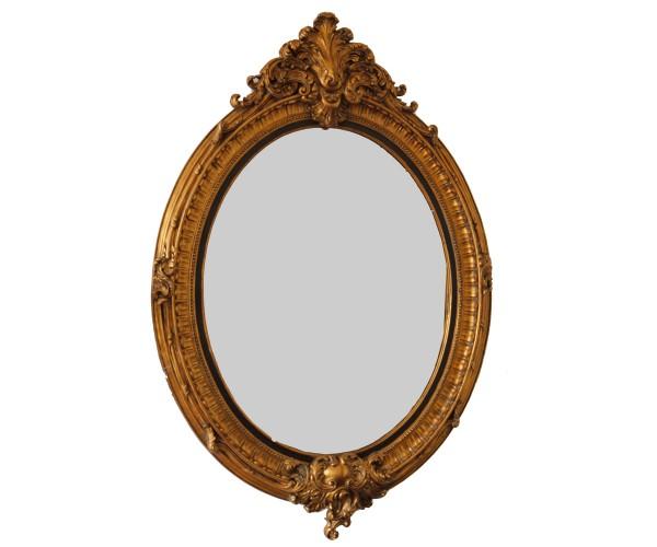 Espejo ovalado galerie pigalle - Espejos marco madera ...