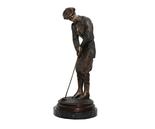estatua-de-golf-base-de-marmol